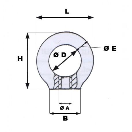 schema anneau de levage femelle