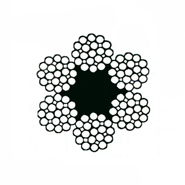 câble âme textile 6x19