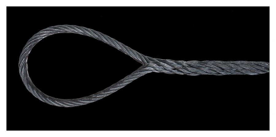 élingue câble boucle épissée