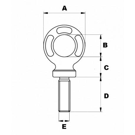 schema anneau de levage en acier allie