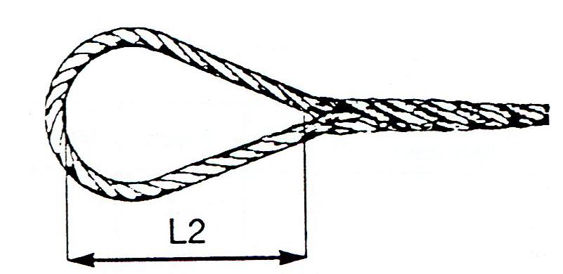 schéma élingue câble boucles épissées