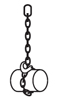 schéma élingue chaîne avec étranglement