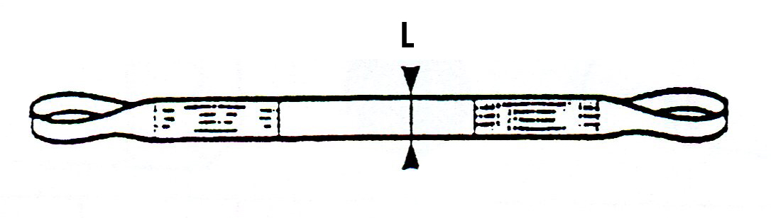 schéma élingue sangle plate