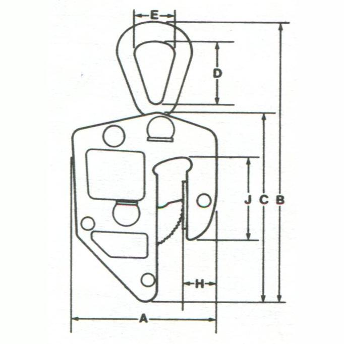 schéma pince lève tôle Campbell E